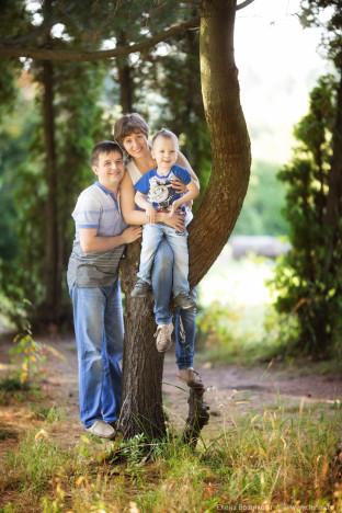 Семья Шумиловых съёмка на природе