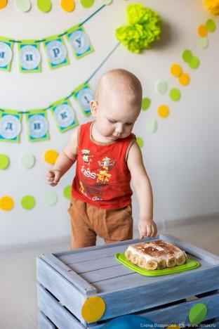 первый день рождения малыша фотосессия