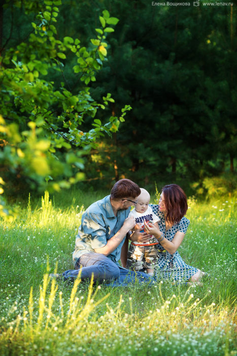 семейная фотосессия нижний новгород осенняя летняя на природе