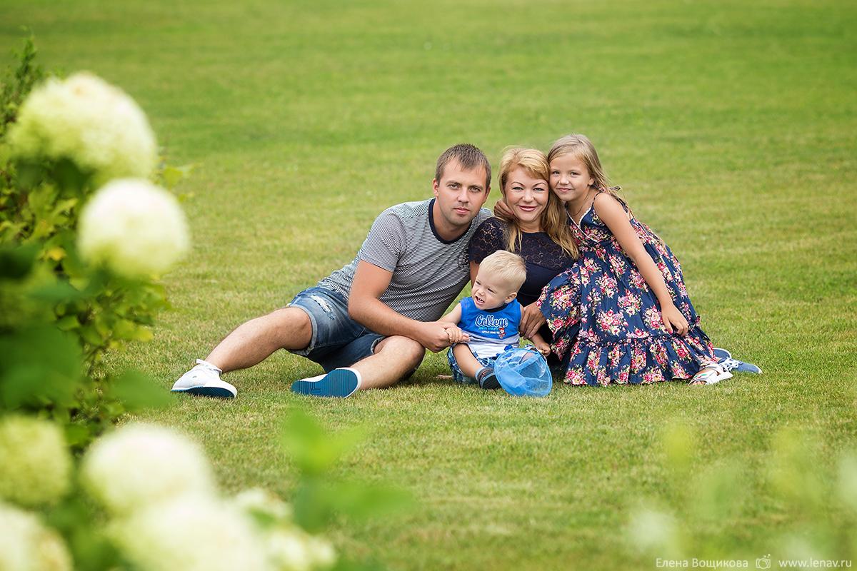 семейная фотосессия в нижнем