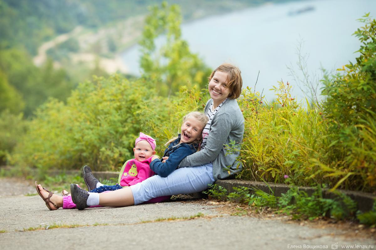 семейная фотопрогулка съёмка на природе