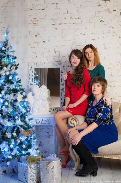 фотосессия на новый год семейная в фотостудии