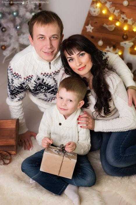 фотосессия зимняя новогодняя