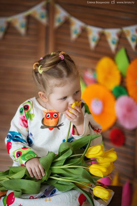 детская фотосессия на день рождения весенняя