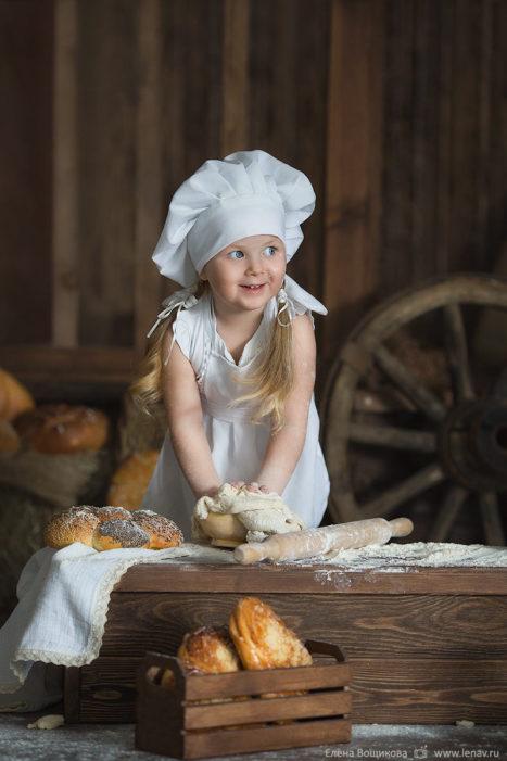 детская фотосессия поваренок