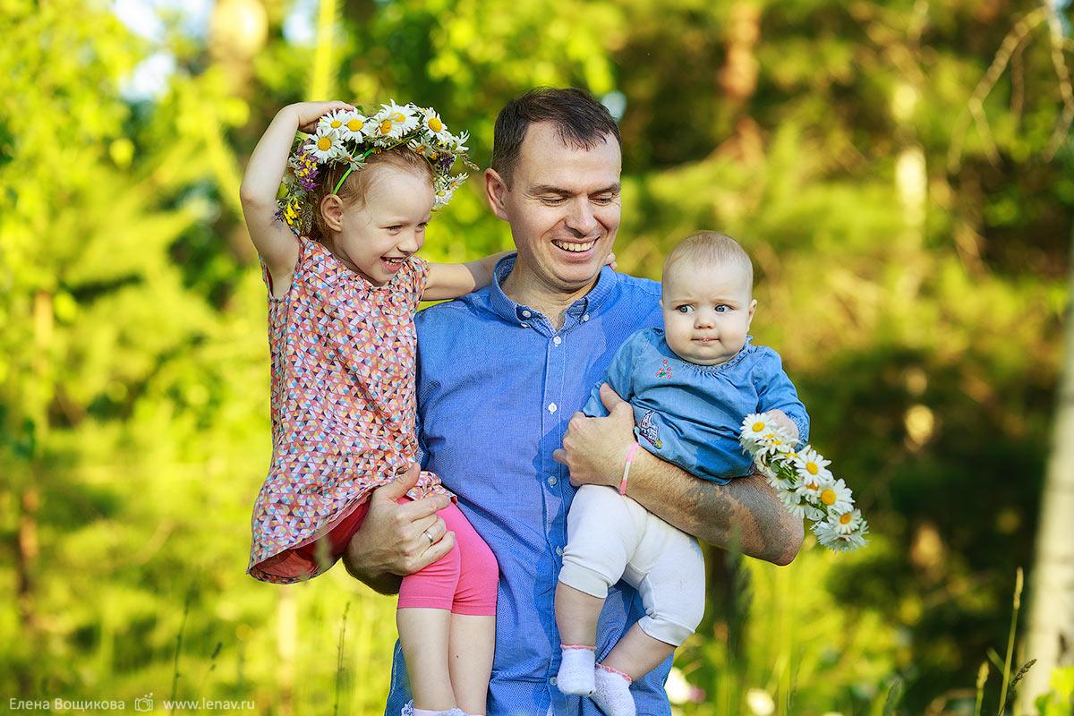 летняя фотосессия на природе семейный фотограф