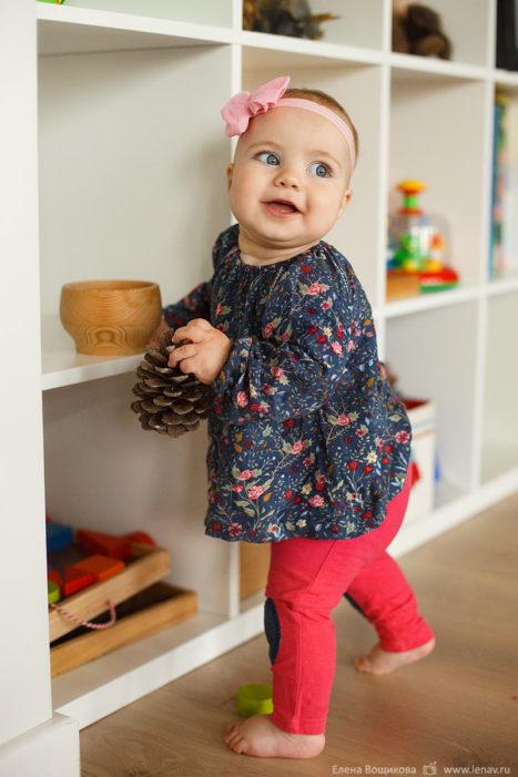 первый год малыша фотосессия дома
