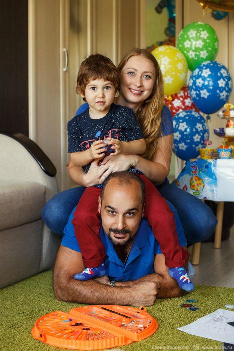 детский день рождения съёмка дома