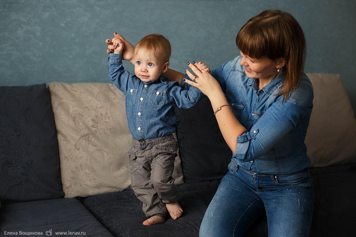 фотосессия на годик ребёнка дома и в парке