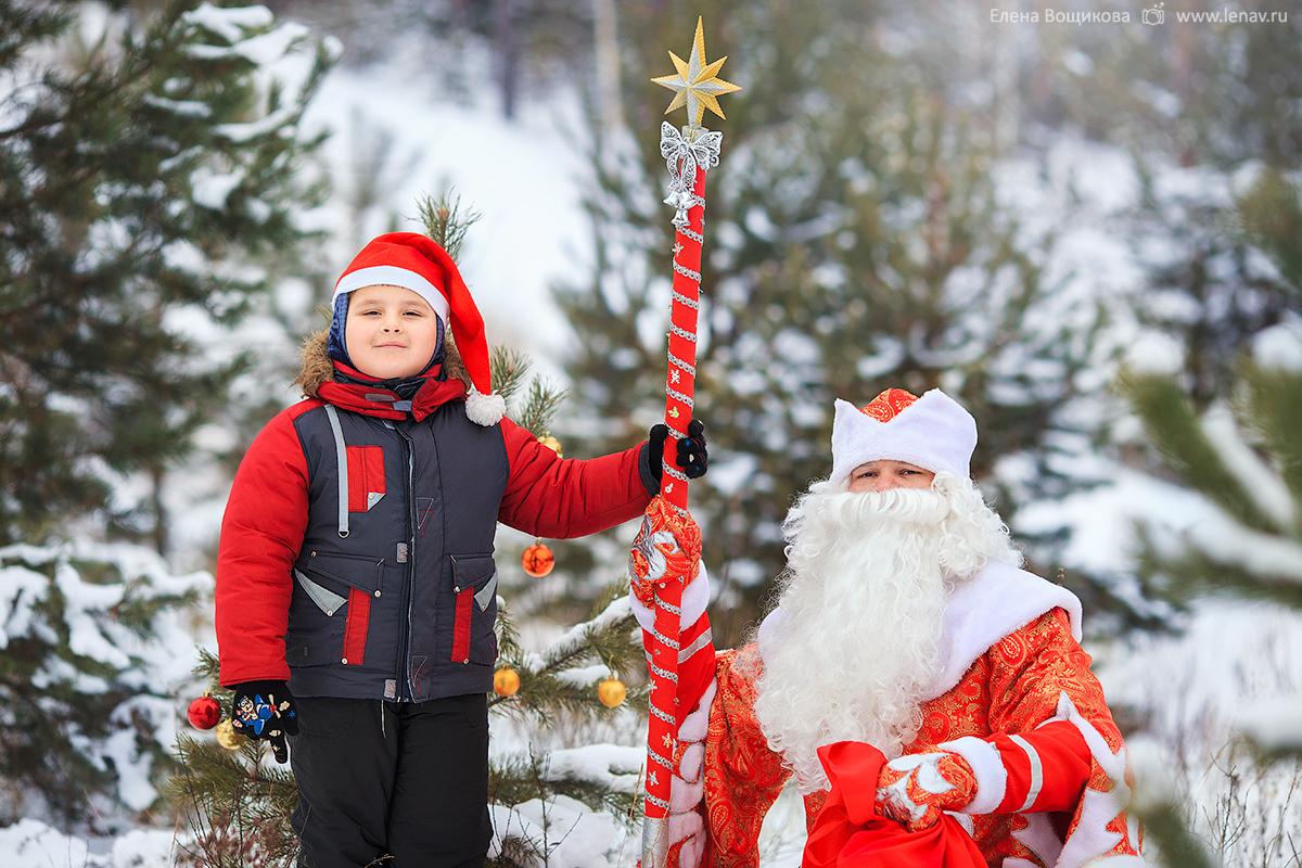фотосессия с дедом морозом в лесу фотограф нижний новгород
