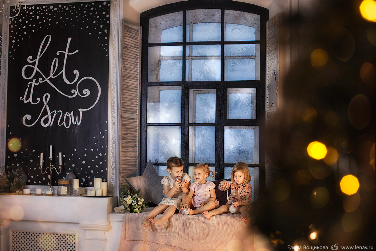 детская новогодняя фотосессия фотограф семейный в нижнем новгороде