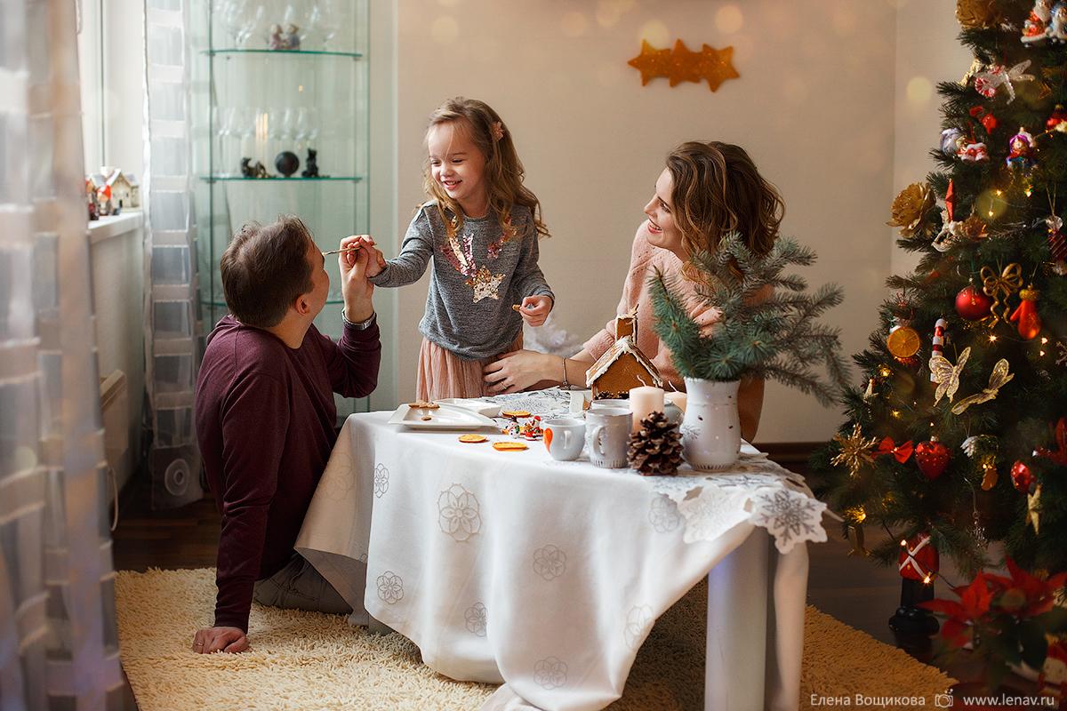 домашняя новогодняя фотосессия семейный фотограф нижний новгород