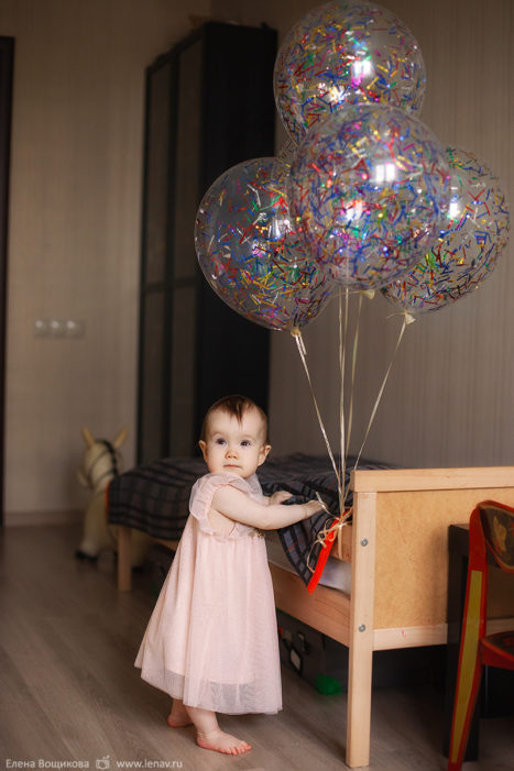 фотосессия дома на день рождения ребенка первый годик