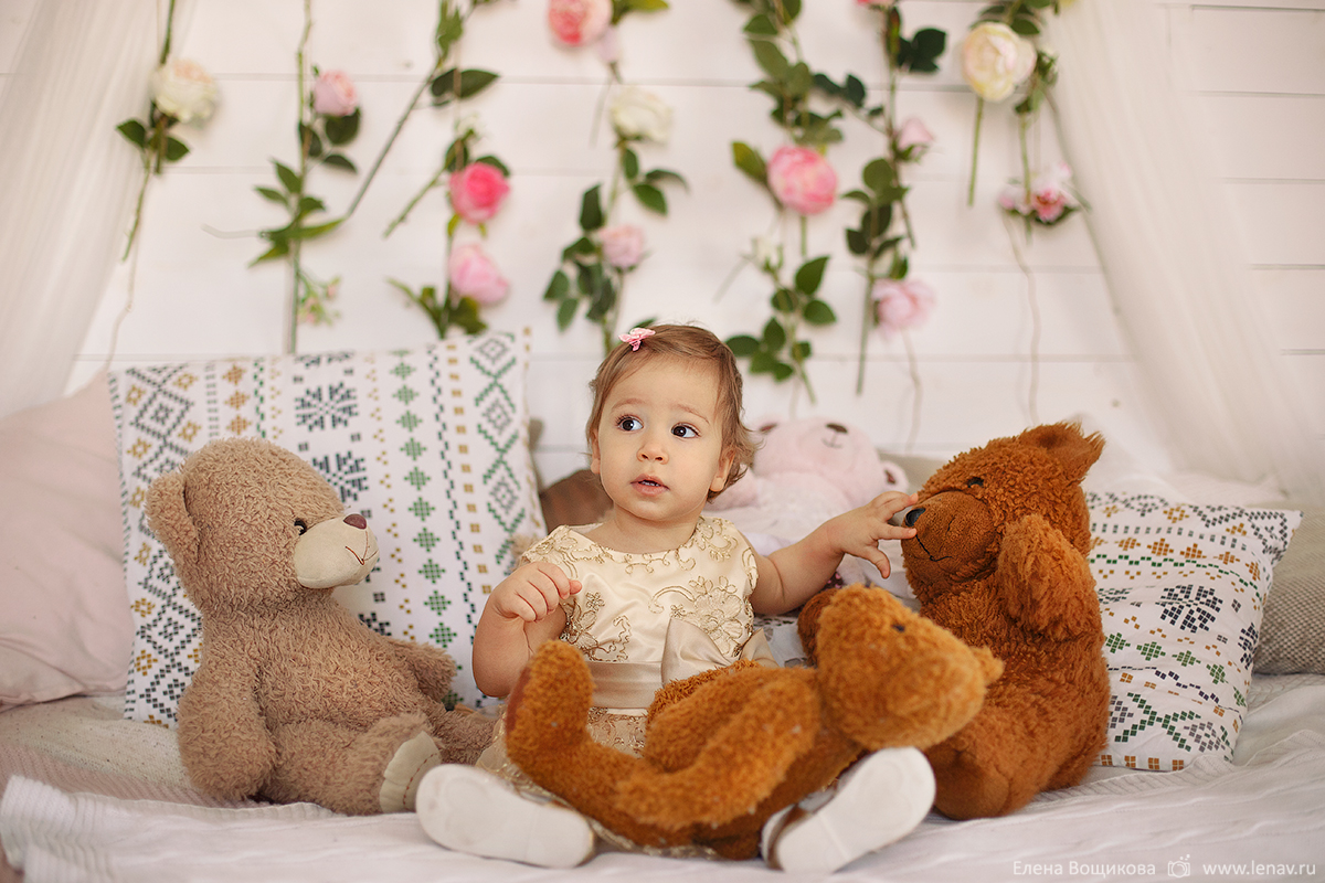 фотосессия на 1 годик день рождения девочки фотограф детский