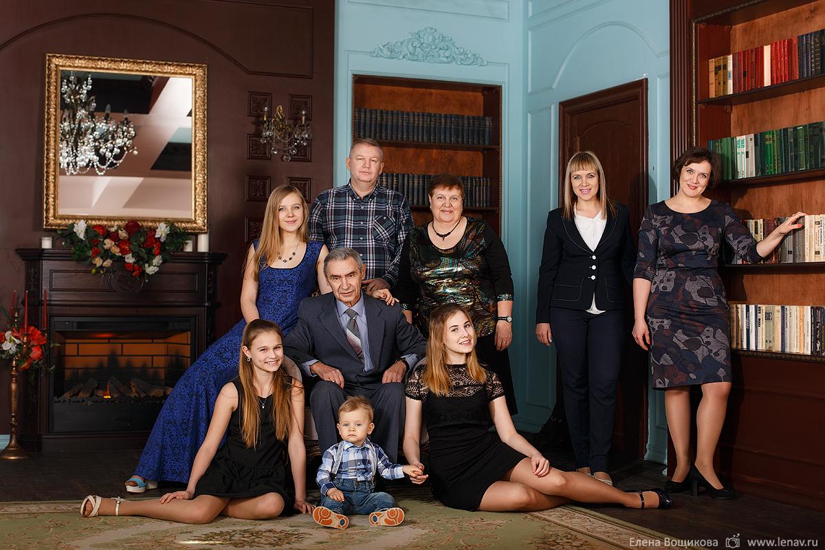 семейная фотосъёмка свся семья с бабушками внуками и детьми фотограф нижний нвогород
