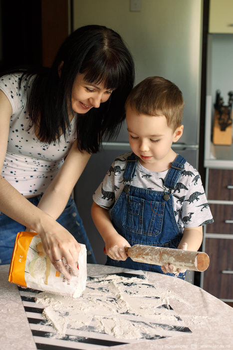 фотосессия дома в день рождения ребенка детский фотограф