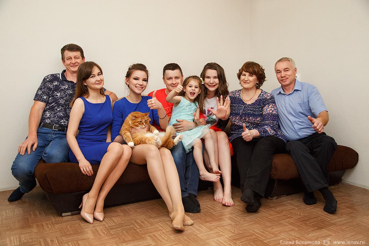 семейная фотосессия в день рождения