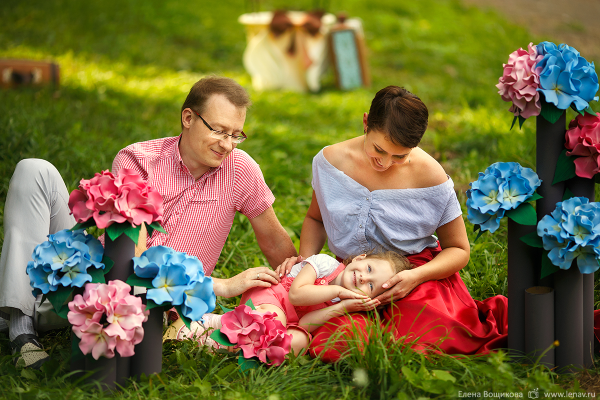 семейная фотосессия на воздушном шаре детский фотопроект