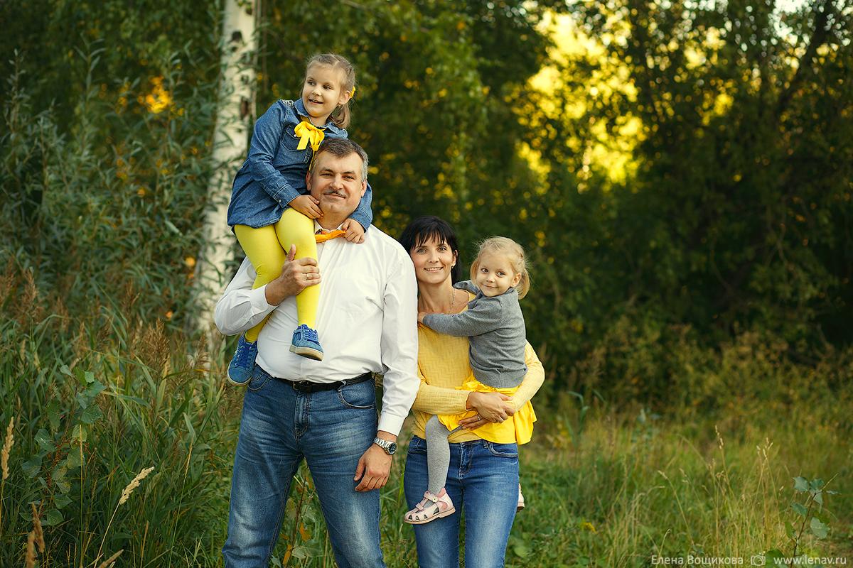 семейная фотосессия в нижнем ноговроде большая семья с бабушками и дедушками