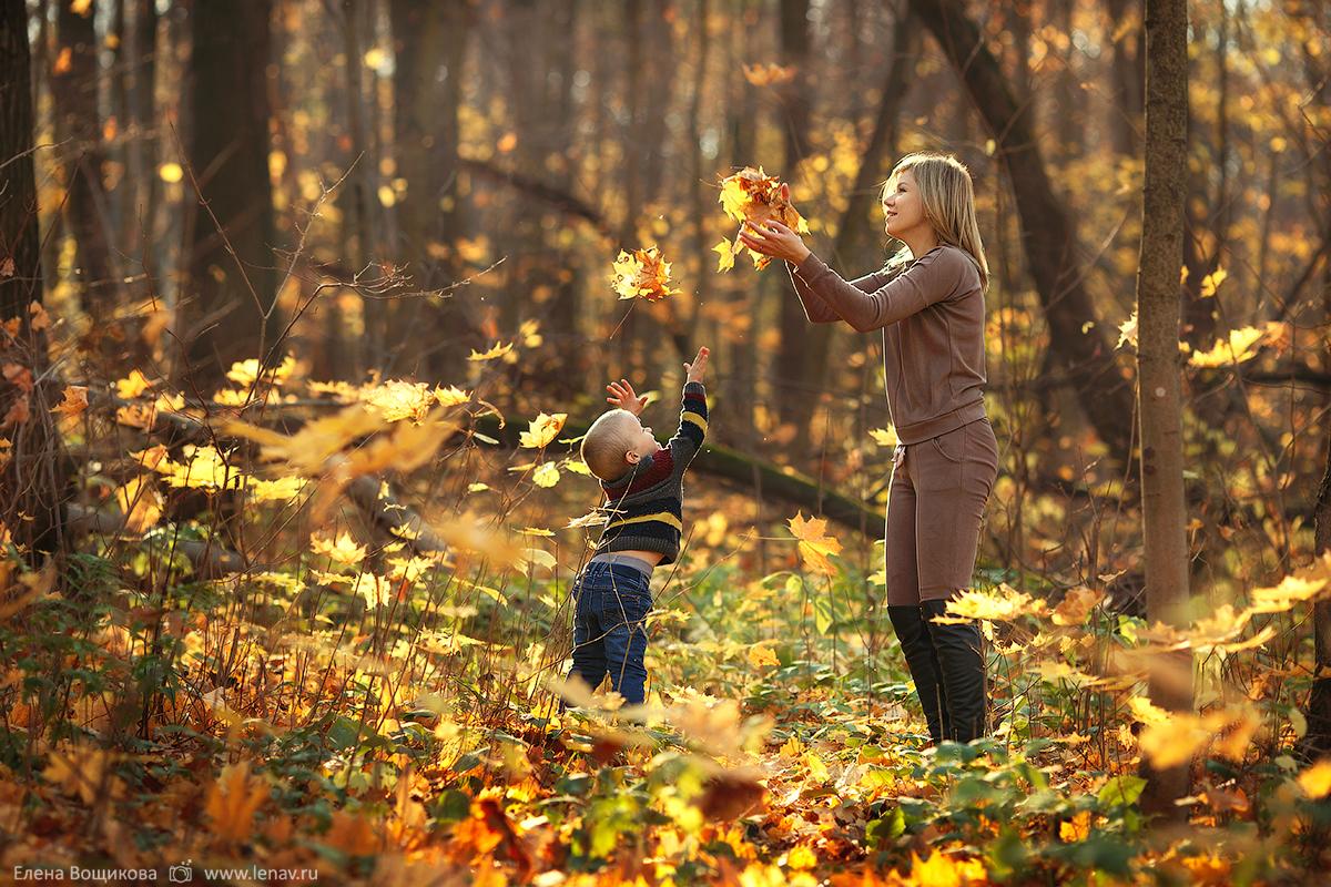 фотосессия мамы с сыном на природе