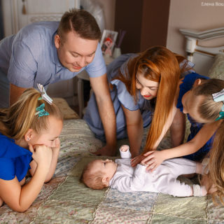 семейная фотосессия у вас дома
