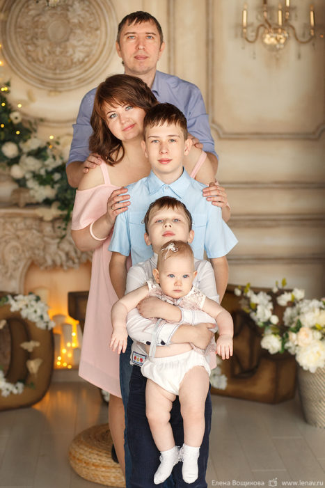 семейная фотосессия 1 годик дочке большая семья фотограф в нижнем новгороде