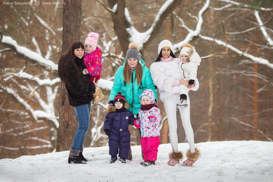 зимняя фотопрогулка в лесу фотограф семейный детский