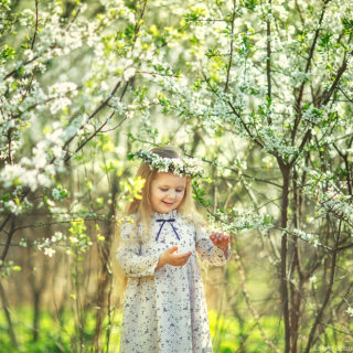 фотосессия в цветущих садах елена вощикова