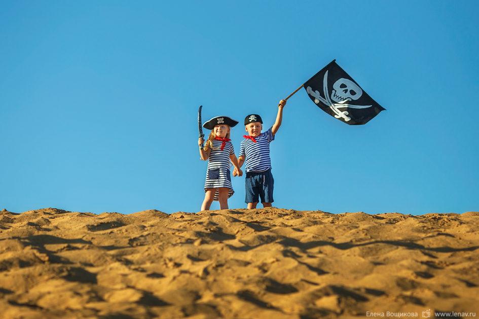 детская тематическая фотосссия пиратская детский фотограф